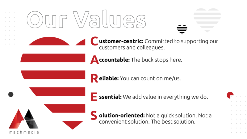 Mach Media CARES: Our values are at the heart of our company culture