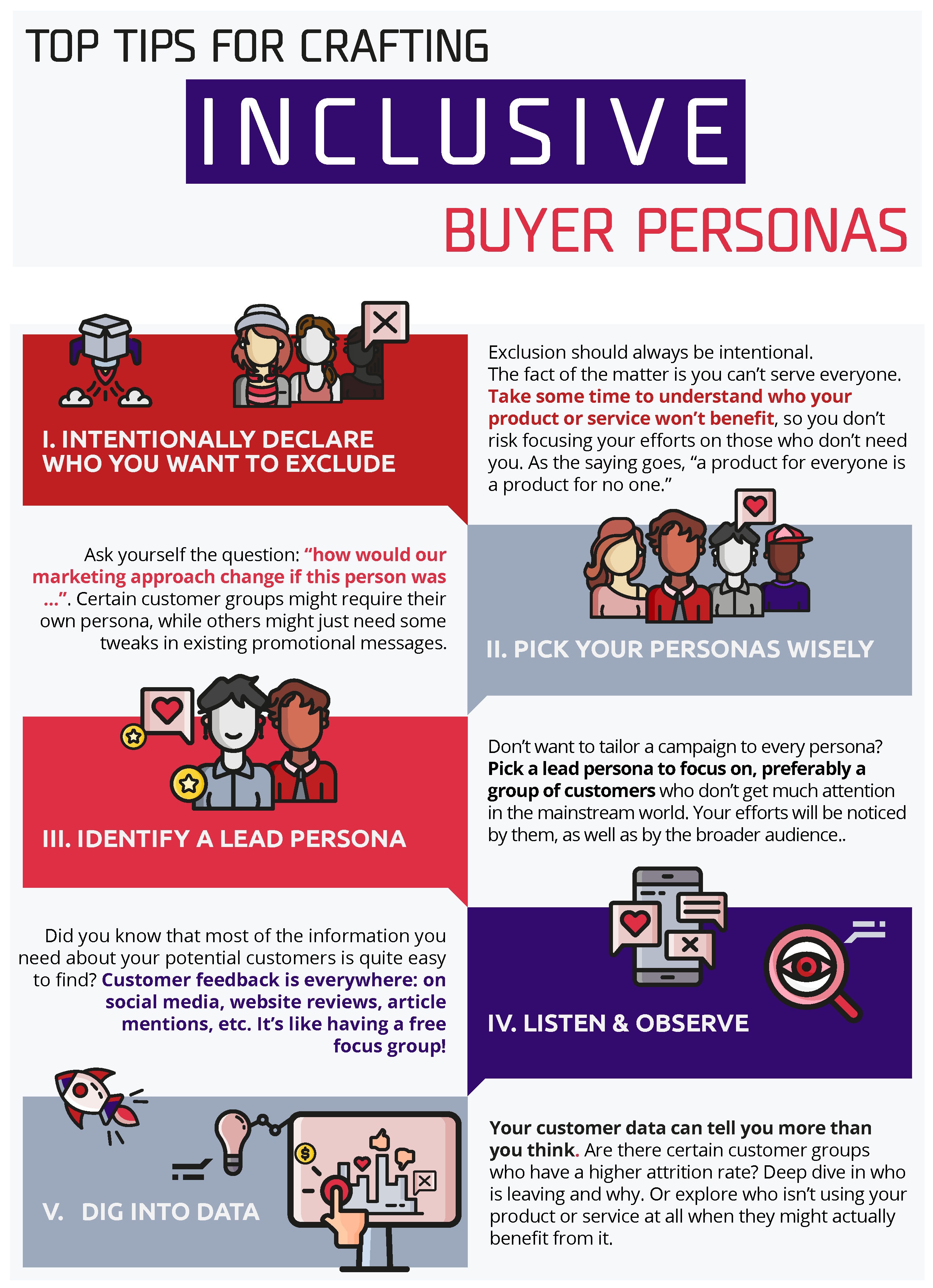 Infographic: top tips for inclusive buyer personas