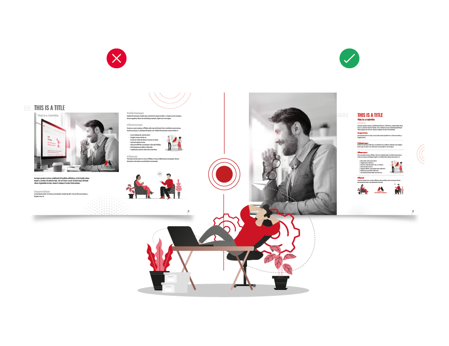 Improve your marketing design: contrast